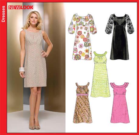 New Look Misses Dresses 6848