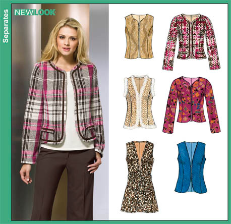 New Look   Misses Lined Jackets and Vests 6853