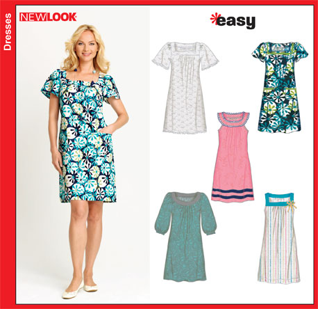 New Look Misses Pullover Dresses 6865