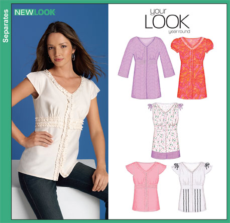New Look Misses Blouses 6869