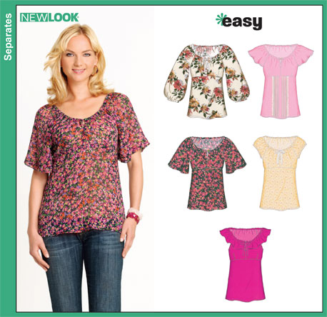 Sale Tops Sewing New Look Patterns - Patterns Kid
