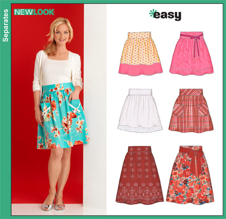 New Look Misses Skirts 6872