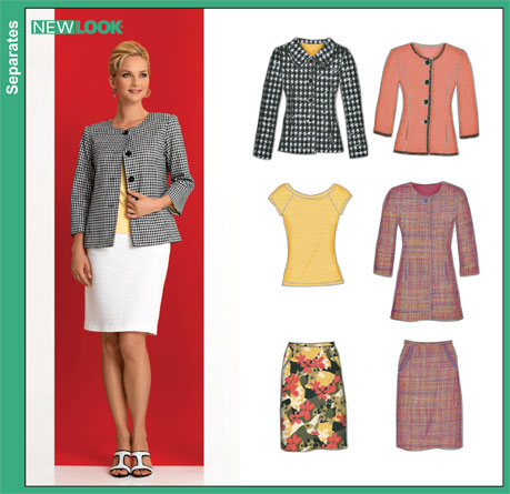 New Look Misses Skirt, Lined Jacket and Knit Top 6874