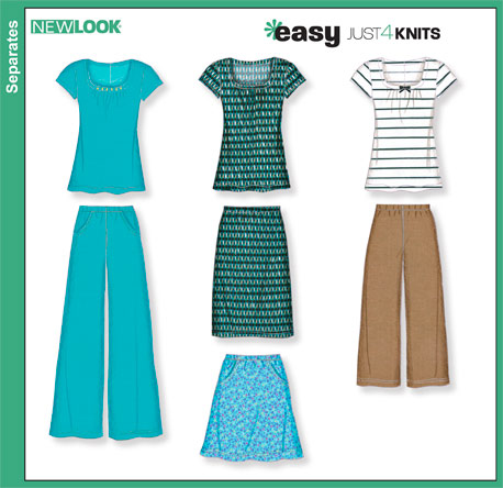 New Look Misses Knit Top, Skirts and Pants 6875
