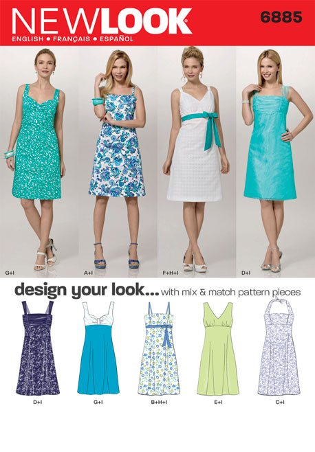 New Look Misses Design Your Look Dress with Bodice Variations 6885