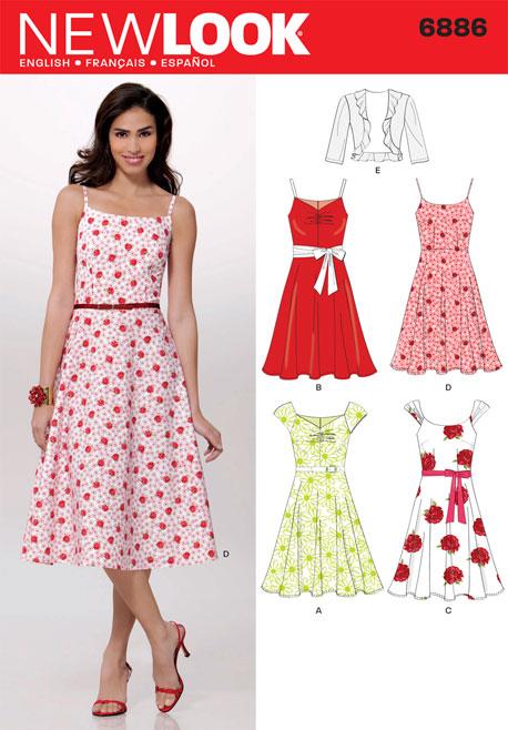 New Look Misses Dresses 6886
