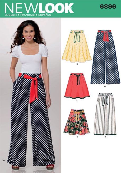 New Look Misses Pants and Skirts 6896