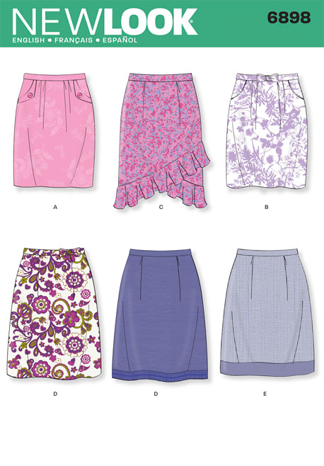 New Look Misses Skirts 6898
