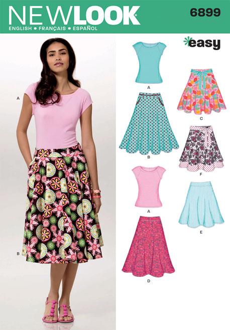 New Look Misses Skirts with Kint Top 6899