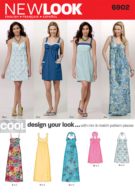 New Look Junior Design Your Look Dresses 6902