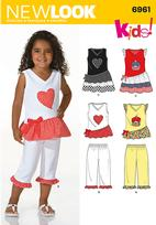 New Look 6961 Pattern( Size 3-4-5-6-7-8 )