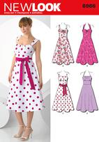 New Look 6966 Pattern( Size 6-8-10-12-14-16 )