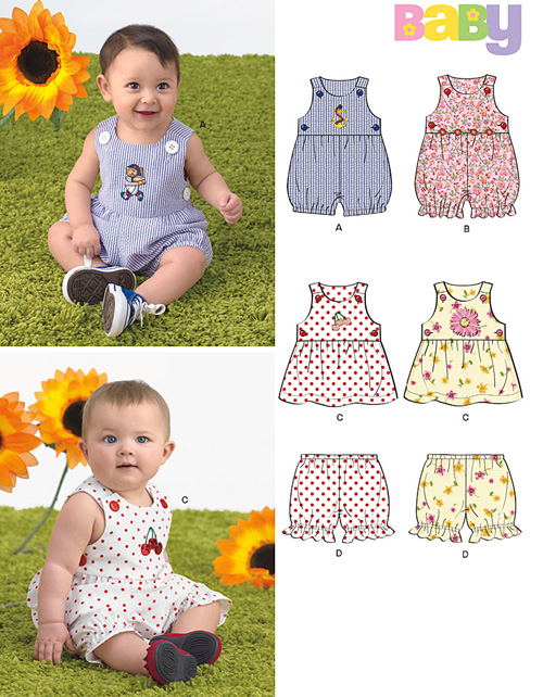 New Look Babies' Romper, Dress & Panties 6970