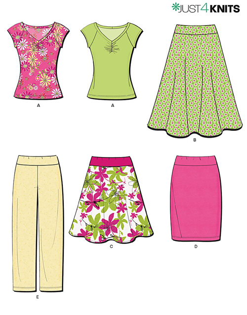New Look Misses' Knit Separates 6977