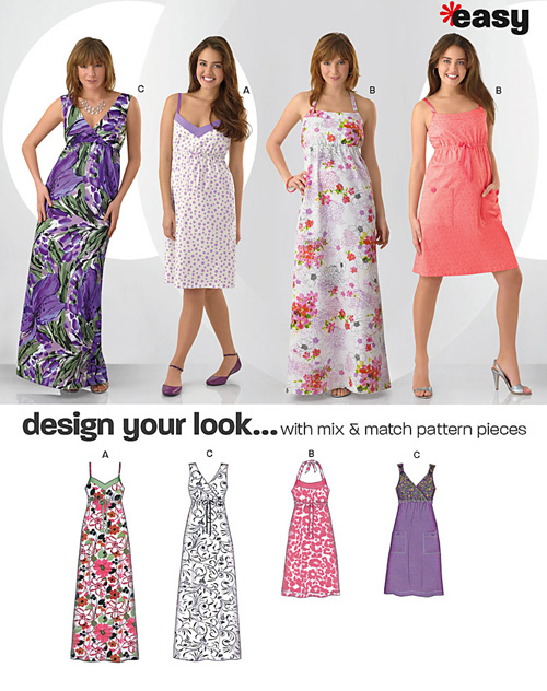 New Look Misses' Design Your Look Dresses 6980