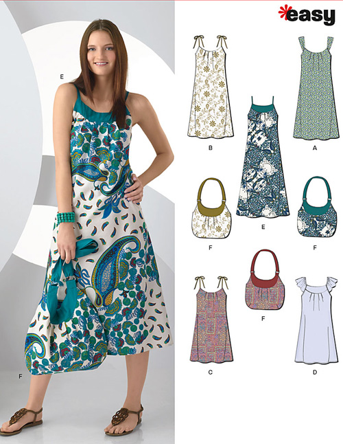 New Look Misses' Dresses & Bag 6984
