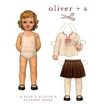 Oliver + S 2 + 2 Blouse & Pleated Skirt Pattern ( Size 6m-3T )