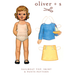 Oliver + S Sailboat Top, Skirt & Pants Digital Pattern ( Size 6m-3T )