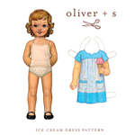 Oliver + S Ice Cream Dress Digital Pattern (6M-4)