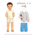 Oliver + S Sketchbook Shirt + Shorts Digital Pattern (6M-4)