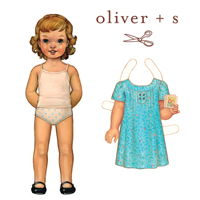 Oliver + S Family Reunion Dress Pattern ( Size 6m-4 )