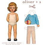 Oliver + S After-School Shirt + Pants Pattern ( Size 6m-4 )