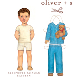 Oliver + S Sleepover Pajamas Digital Pattern (Size 6M-4)