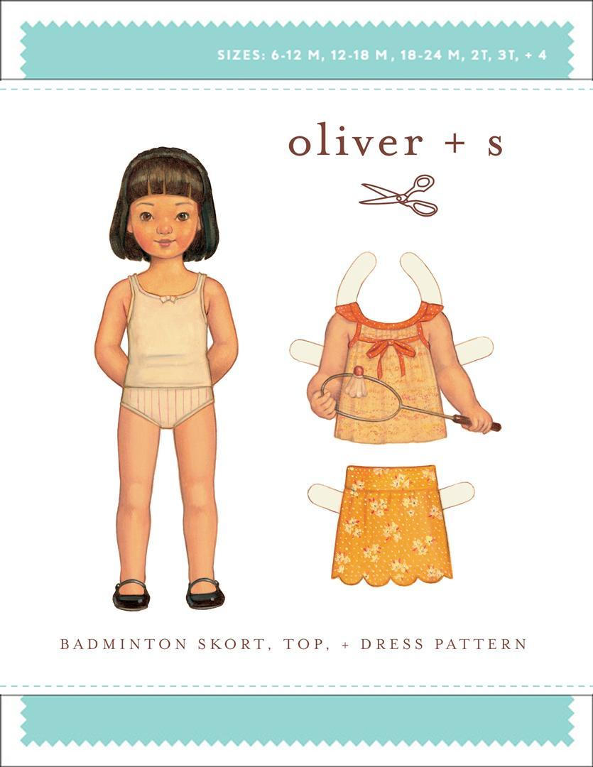 Oliver + S Badminton Skort, Top + Dress OS031BD