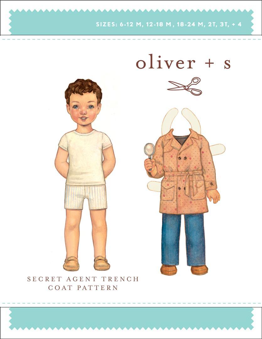 Oliver + S Secret Agent Trench Coat OS032ST
