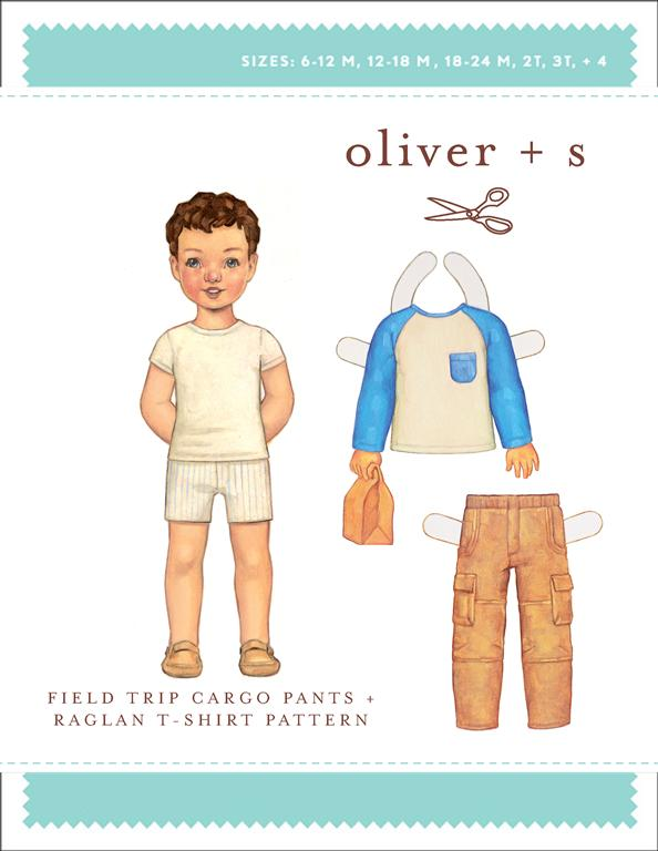 Oliver + S Field Trip Cargo Pants and Raglan T-Shirt OS035FC