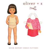 Oliver   S Book Report Dress Digital Pattern ( Size 6m-4 )
