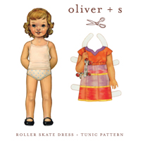 Oliver + S Roller Skate Dress and Tunic Pattern ( Size 6m-4T )