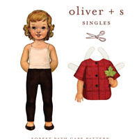 Oliver & S Forest Path Cape Digital Pattern  ( Size 5-12 )