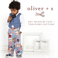 Oliver + S Art Museum Vest + Trousers Digital Pattern (6m-4)