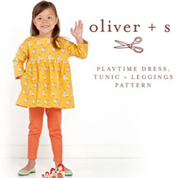 Oliver + S Playtime Dress, Tunic + Leggings Digital Pattern (6m-4)