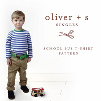 Oliver + S School Bus T-Shirt Digital Pattern (6m-4)