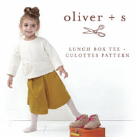 Oliver + S Lunch Box Tee and Culottes Paper Pattern (5-12)