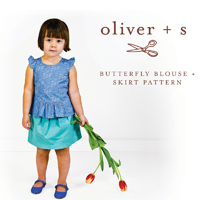 Oliver + S Butterfly Blouse and Skirt Digital Pattern (Size 6m-4T)