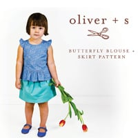 Oliver + S Butterfly Blouse and Skirt Paper Pattern (Size 5-12)