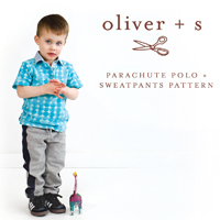 Oliver + S Parachute Polo and Sweatpants Digital Pattern (6M-4)