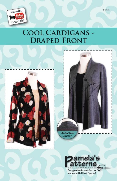 Pamela's Patterns Cool Cardigans - Draped Front 110