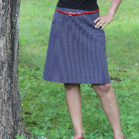 PatternReview Annika A-Line Skirt Digital Pattern (Print at Home)