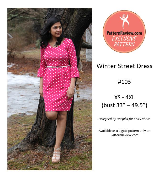 PatternReview Winter Street Dress Downloadable Pattern 103