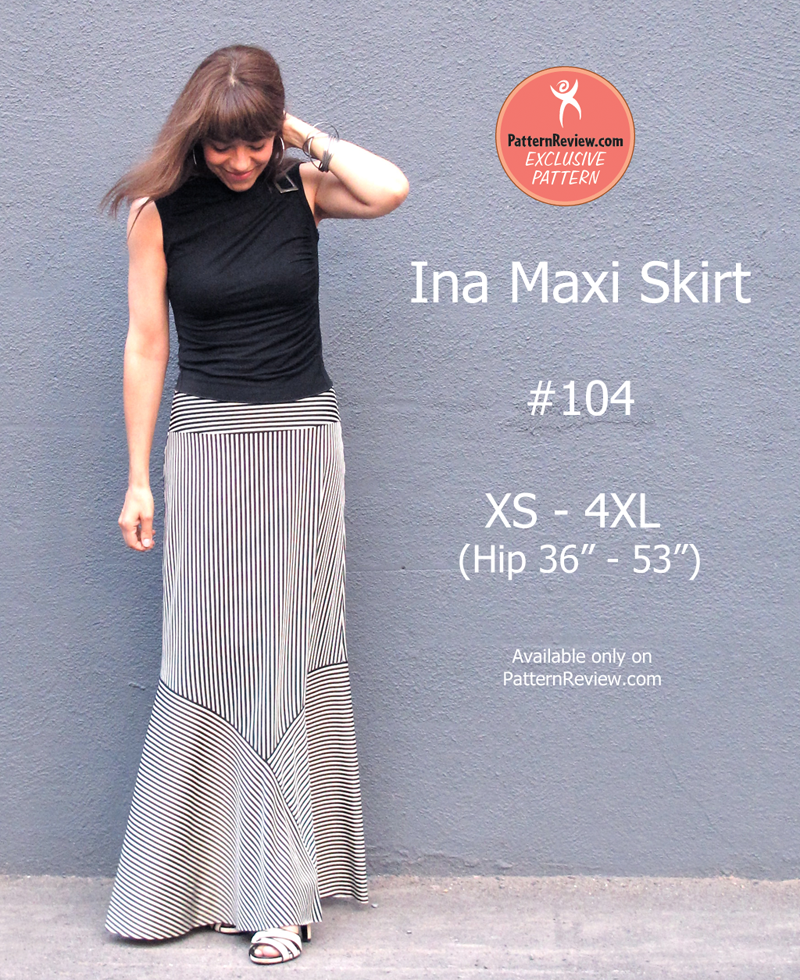 PatternReview Ina Maxi Skirt 104