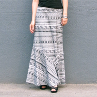 PatternReview Ina Maxi Skirt (Plus XL - 4XL ) Digital Pattern