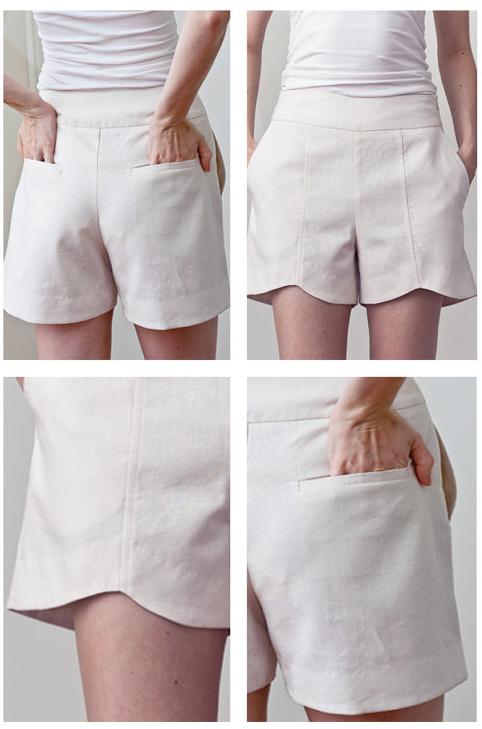 PatternRunway Scalloped Hem Shorts 1102