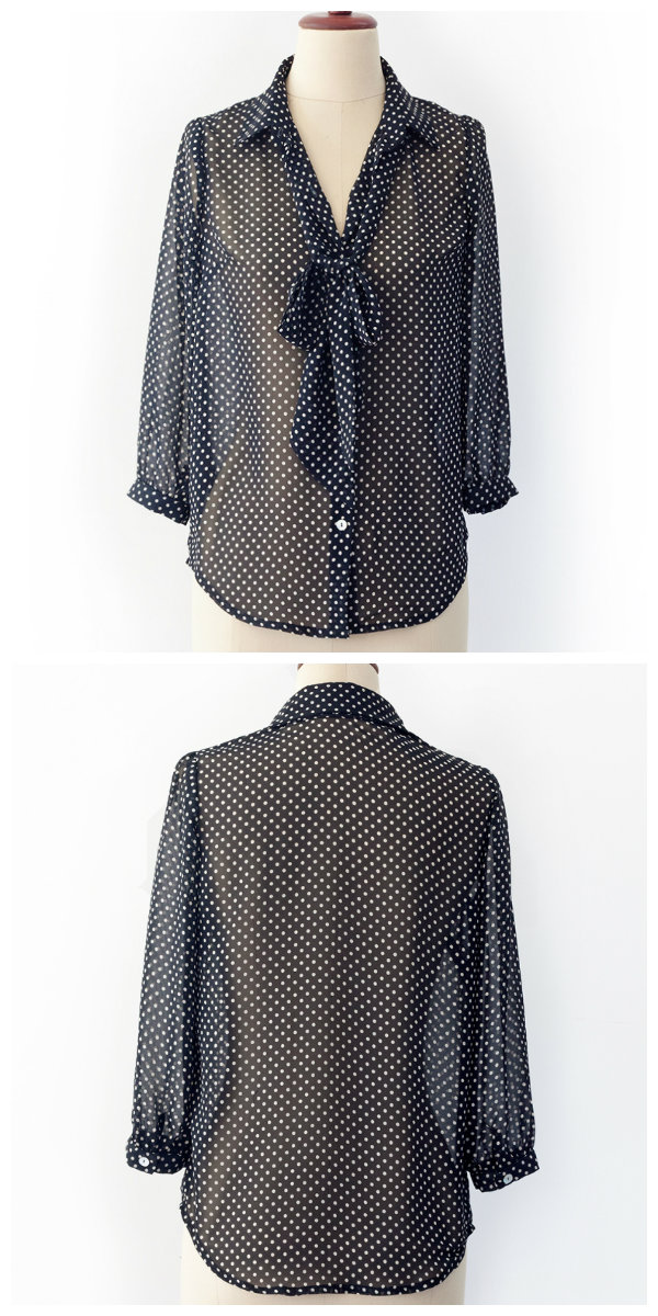 PatternRunway Pussy Bow Blouse 1201
