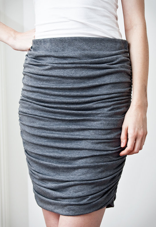 PatternRunway Draped Knit Skirt 1401