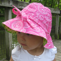 Peek-A Boo 4 in 1 Sun Hat Digital Pattern ( Size 0-10 years )