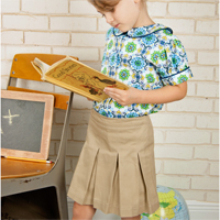 Peek-a-Boo School Belle Skort Digital Pattern